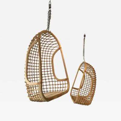 Bonacina Rattan Egg Cage Armchairs by Bonacina Italy