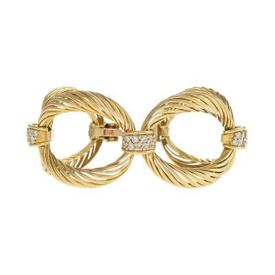 Boucheron A French 18 Karat Gold Bracelet with Diamonds