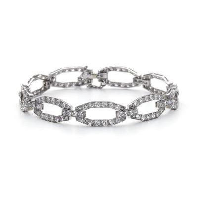 Boucheron Boucheron Art Deco Diamond Platinum Link Bracelet