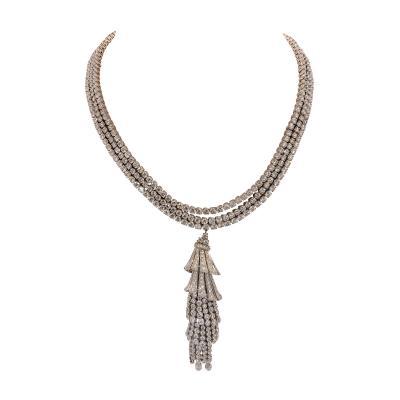 Boucheron Boucheron Paris Important Diamond Necklace with Removable Tassel