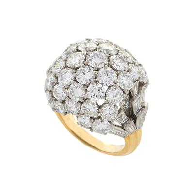 Boucheron Boucheron Paris Mid 20th Century Diamond Platinum and Gold Bomb Ring