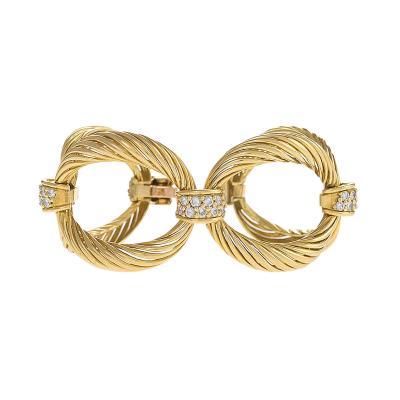 Boucheron Boucheron Paris Mid 20th Century Diamond and Gold Link Bracelet