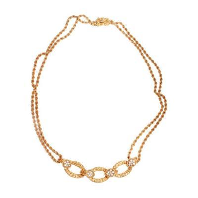 Boucheron Boucheron Serpent Boheme Diamond Gold Necklace