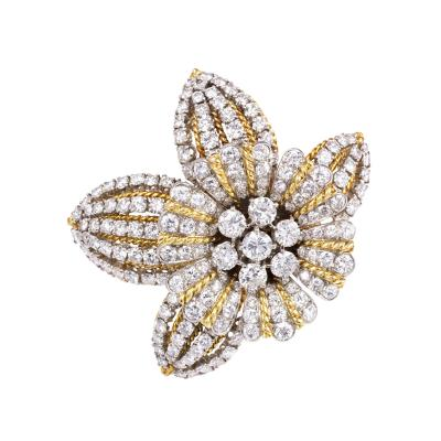 Boucheron Retro Diamond and Gold Clip Brooch Boucheron