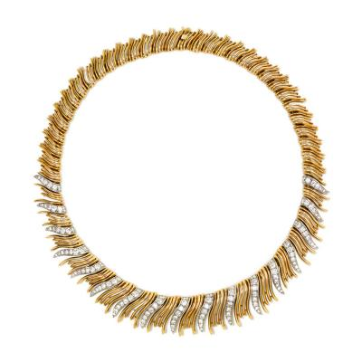 Boucheron Retro Gold and Diamond Necklace Boucheron