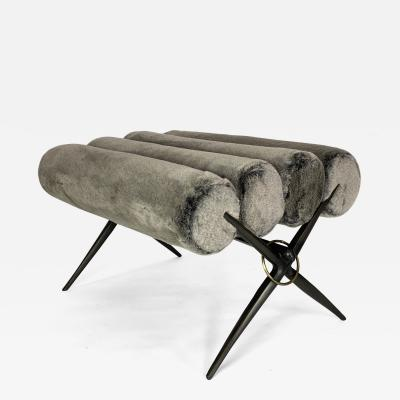 Bourgeois Boheme Atelier Bel Air Bench Faux Fur