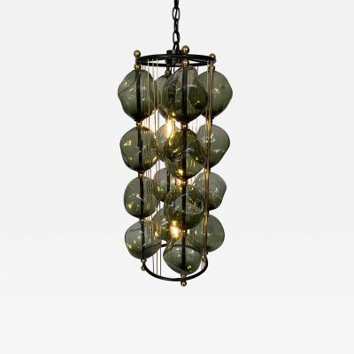 Bourgeois Boheme Atelier Opera Prima Chandelier by Bourgeois Boheme Atelier Hunter Green Glass