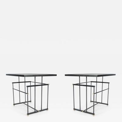 Bourgeois Boheme Atelier Pair of Plaisance Side Tables By Bourgeois Boheme Atelier