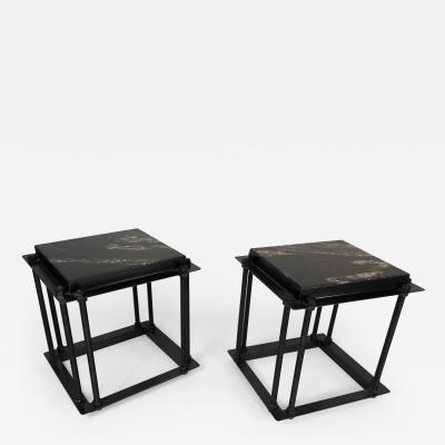 Bourgeois Boheme Atelier Pair of Simplon Side Tables Black Granite