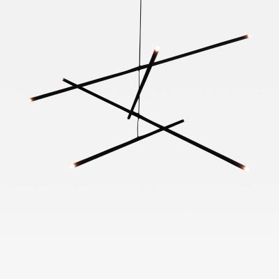Bourgeois Boheme Atelier Pyramide Chandelier Matte Black Finish