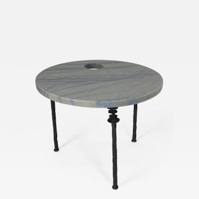 Bourgeois Boheme Atelier Sorgue Table Round with Bronze legs