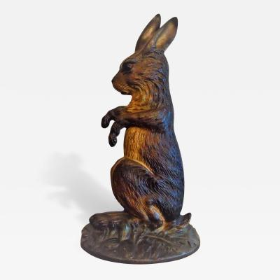 Bradley Hubbard B H Rabbit Doorstop in Near Mint Condition