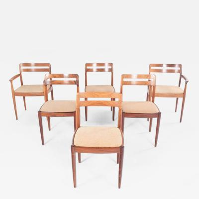 Brahmin Mobler Midcentury Rosewood Set of Six H W Klein Dining Chairs for Bramin
