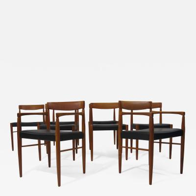 Bramin M bler Eight H W Klein for Bramin Danish Teak Dining Chairs 8