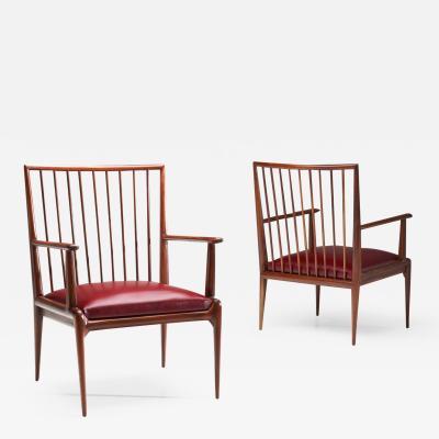 Branco Preto A Pair of Mid Century Brazilian Chairs by Branco Preto attr