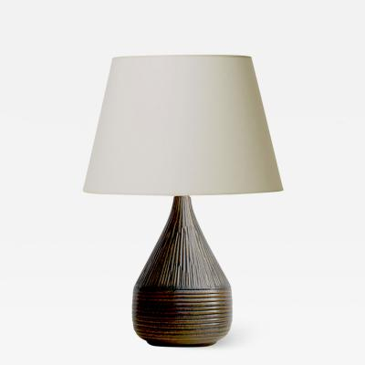 Brandi Keramik Textured Table Lamp by Henry Brandi