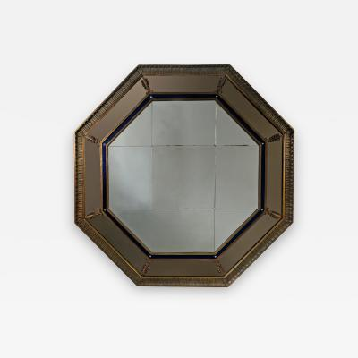 Bromsgrove Guild of Applied Arts A Large Octagonal Art Deco Mirror from SS Duchess of Bedford Circa 1928