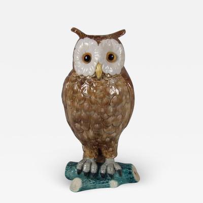 Brown Westhead Moore Co Brown Westhead Moore Majolica Owl Figure
