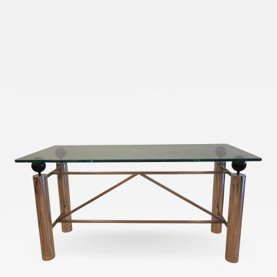 Brueton American Modern Chrome and Glass Console Table