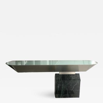 Brueton Brueton Console Table Illuminated Stainless Steel and Marble by J Wade Beam