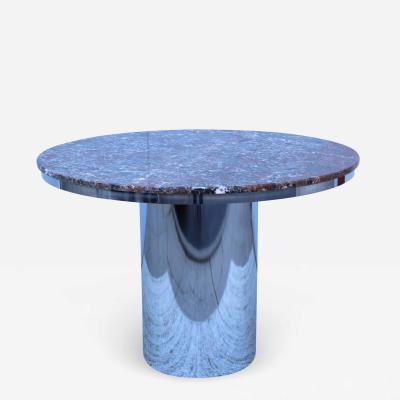 Brueton Brueton Stainless Steel And Marble Dining Table