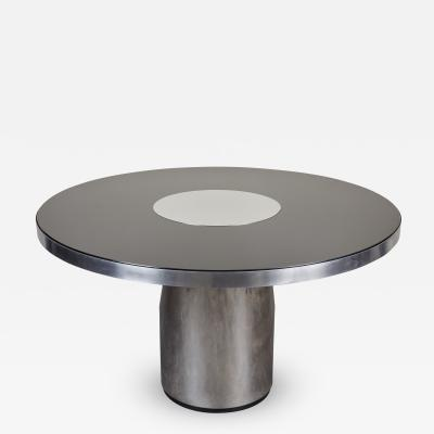 Brueton Brueton Style Round Hall Steel Table Glass