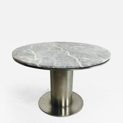 Brueton Modern Stainless Steel and Marble Dining Table by Brueton Industries