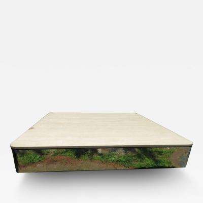 Brueton Uira Grayboff Coffee Table Steel Marble 1970s Brueton Mid Century Modern