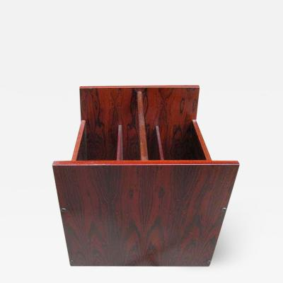 Bruksbo Norwegian Rosewood Magazine Rack by Brusksbo Mellemstrands Danish Modern