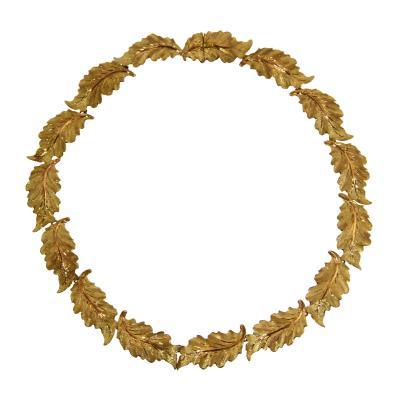 Buccellati 18 Karat Gold Foliate Necklace by Buccellati Italy