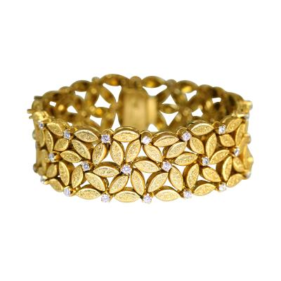 Buccellati 18 Karat Gold and Diamond Bracelet by Buccellati Italy Circa 1960