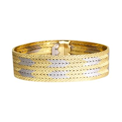 Buccellati 18 Karat Two Tone Gold Bracelet by Buccellati Italy