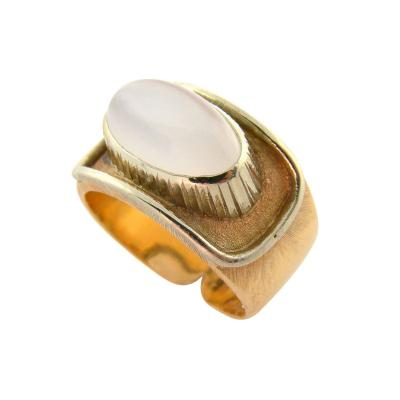 Buccellati 18K Yellow Gold Moonstone Ring