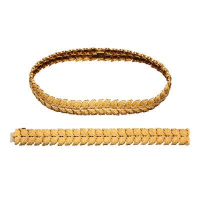 Buccellati 1960s 18K Gold Bracelet Necklace Set by Buccellati