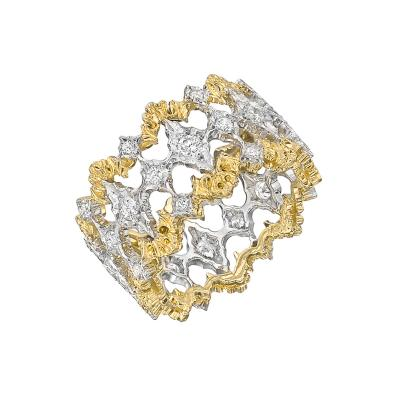 Buccellati Buccellati 18k Gold Diamond Openwork Band Ring
