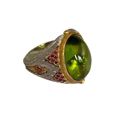 Buccellati Buccellati 18kt Gold Peridot and Ruby Ring
