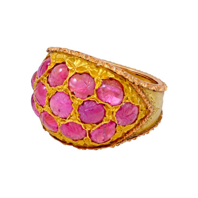Buccellati Buccellati 18kt Gold and Carved Ruby Ring