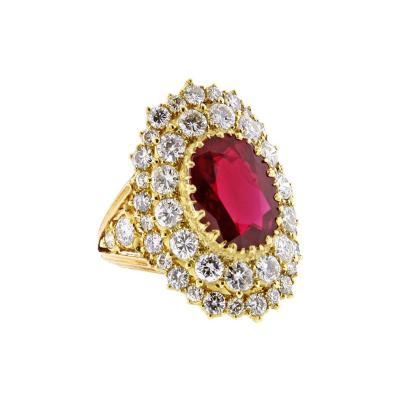 Buccellati Buccellati AGL Certified Ruby and Diamond Ring