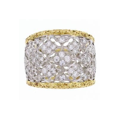 Buccellati Buccellati Diamond Gold Band Ring