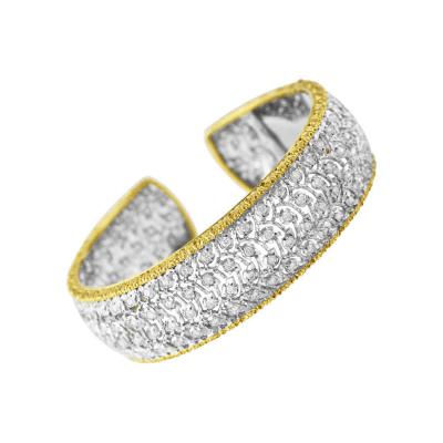 Buccellati Buccellati Diamond and Gold Cuff Bracelet