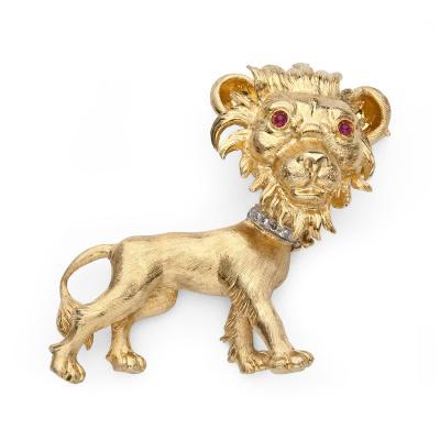 Buccellati Buccellati Gold Lion Brooch