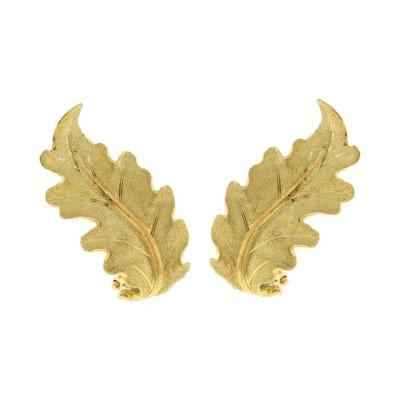 Buccellati Buccellati Gold Oak Leaf Earrings