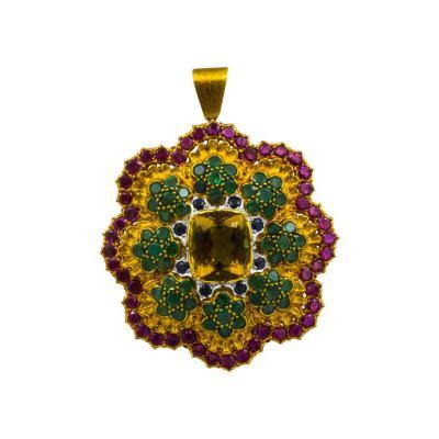 Buccellati Buccellati Multi Color Gemset Pendant Brooch