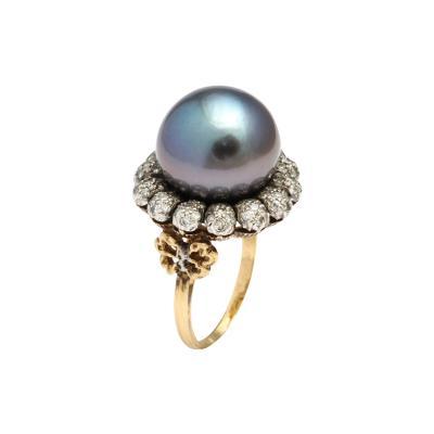 Buccellati Buccellati Tahitian Pearl Diamond Ring