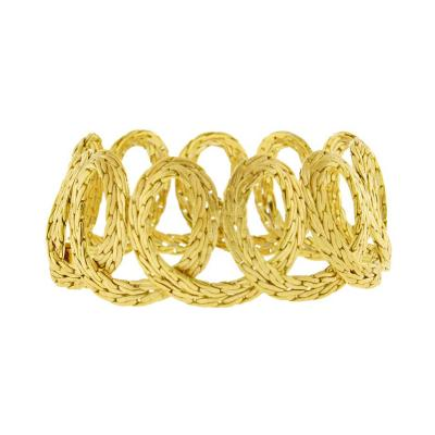 Buccellati Buccellati Textured Gold Spiral Bracelet