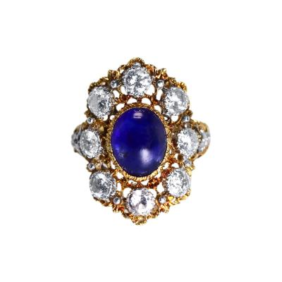 Buccellati Gold Sapphire and Diamond Ring by Buccellati Italy circa 1950