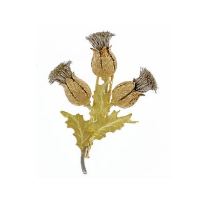 Buccellati Mario Buccellati Gold and Silver Thistle Brooch