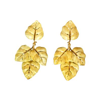 Buccellati Pair of 18 Karat Gold Earclips by Buccellati Italy