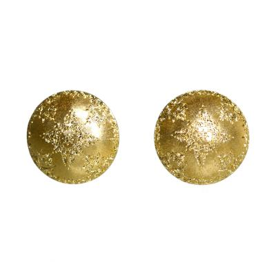 Buccellati Pair of 18 Karat Gold Earclips by Mario Buccellati circa 1960