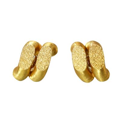 Buccellati Pair of 18 Karat Gold Torchon Earclips by Buccellati Italy